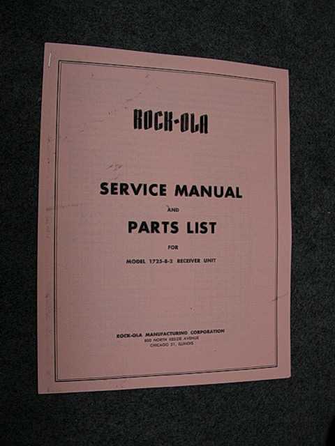 Rock ola stepper 1725 8 service manual reprint